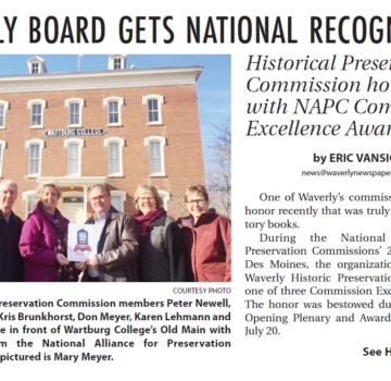 Waverly Board Get National Recognition
