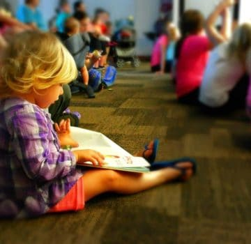Library Toddler Reading